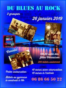 """Concert """"du blues au rock"""" @ salle des fêtes"""