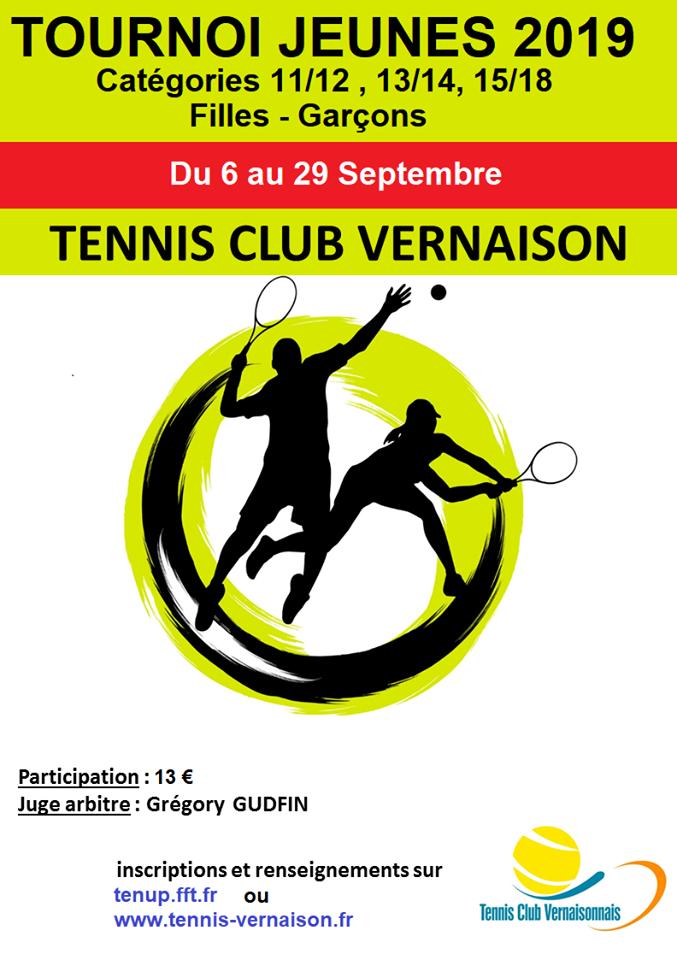 Tennis : tournoi jeunes fille-garçon @ Terrain de tennis