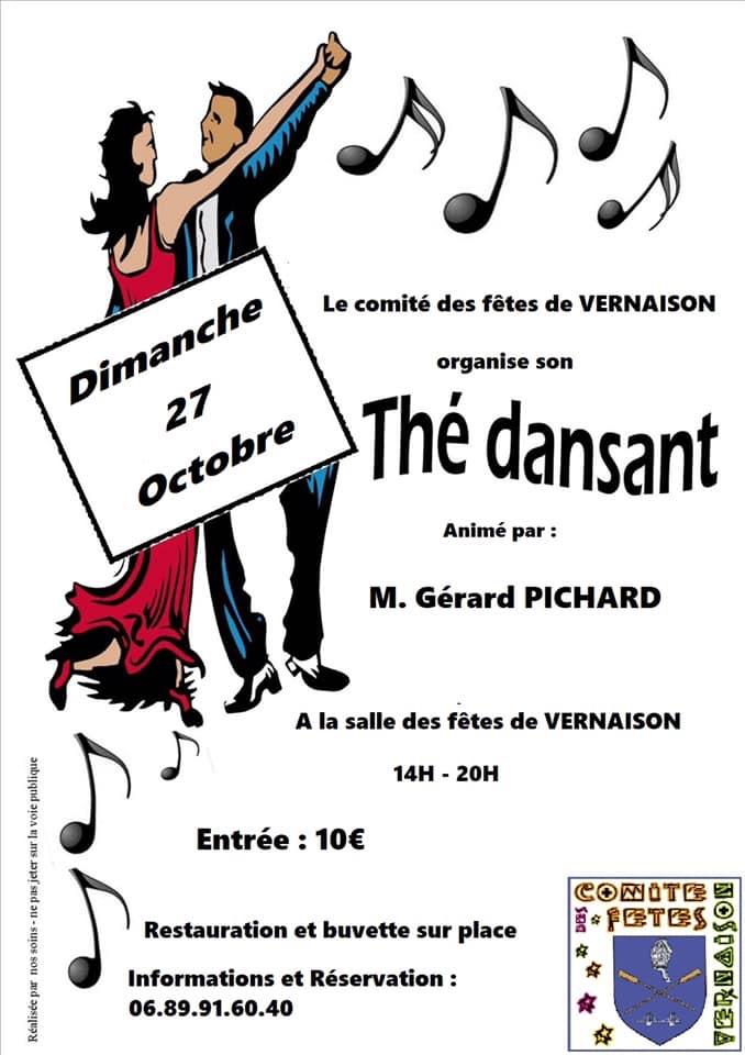 Thé dansant du Comité des fêtes @ Salle des Fêtes Vernaison