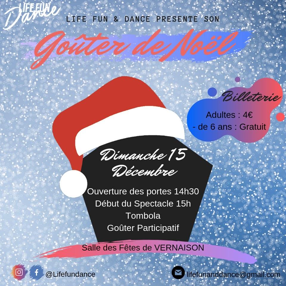 Goûter de Noël de Life, fun and dance @ Salle des Fêtes Vernaison