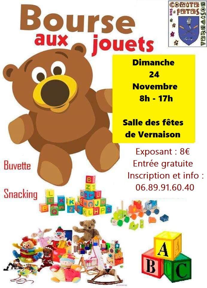 Bourse aux jouets du Comité des Fêtes @ Salle des Fêtes Vernaison