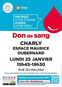 Don du sang @ Esapce M. Dubernard Charly