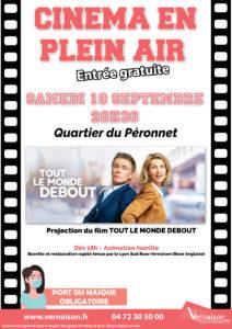 Séance de cinéma en plein air @ Quartier du Péronnet